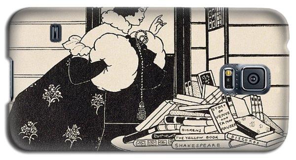 Woman In A Bookshop Galaxy S5 Case by Aubrey Beardsley