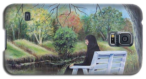 Woman In Black Galaxy S5 Case by Susan DeLain