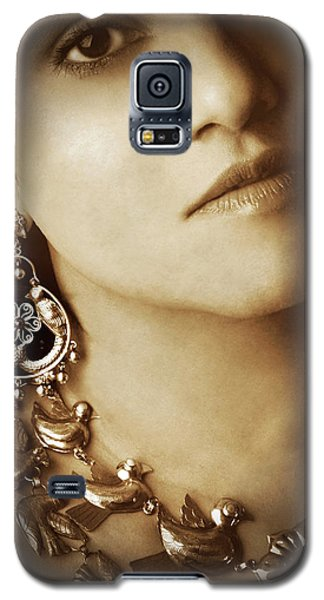 Woman In Mexican Silver Jewelry Galaxy S5 Case