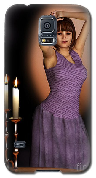 Woman In Purple Gown With Candles Galaxy S5 Case