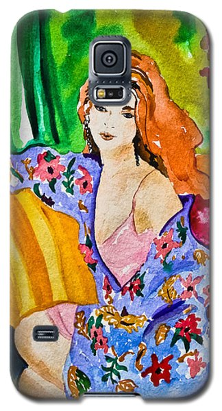 Woman In Silk Kimono Galaxy S5 Case by Colleen Kammerer