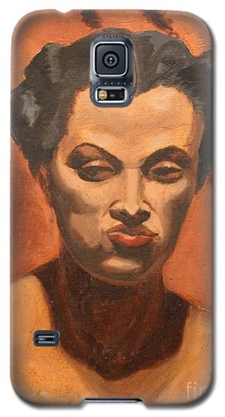 Woman In Thought  Galaxy S5 Case