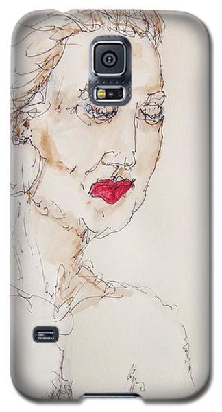 Galaxy S5 Case featuring the painting Woman In Thought by Rand Swift