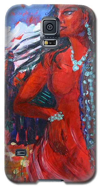 Woman Of The Whispering Wind Galaxy S5 Case by Avonelle Kelsey