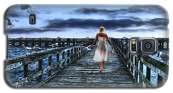 Woman On Pier Galaxy S5 Case by Terence Morrissey