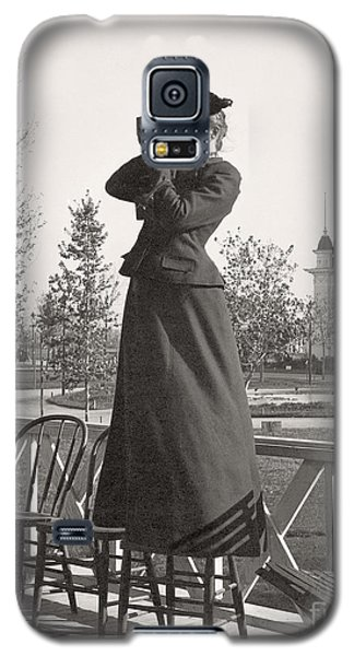 Galaxy S5 Case featuring the photograph Woman Photographer 1898 by Martin Konopacki Restoration