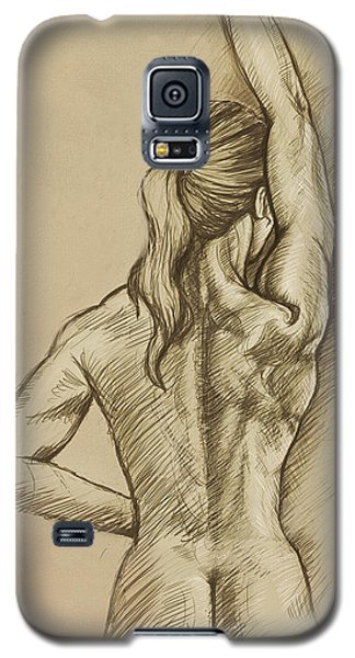 Galaxy S5 Case featuring the drawing Woman Sketch by Rob Corsetti