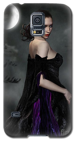 Woman Standing In Night Mist And Fog Galaxy S5 Case