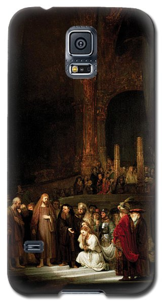 Woman Taken In Adultry To Jesus Galaxy S5 Case by Rembrandt