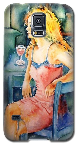Galaxy S5 Case featuring the painting Woman Waiting  by Trudi Doyle