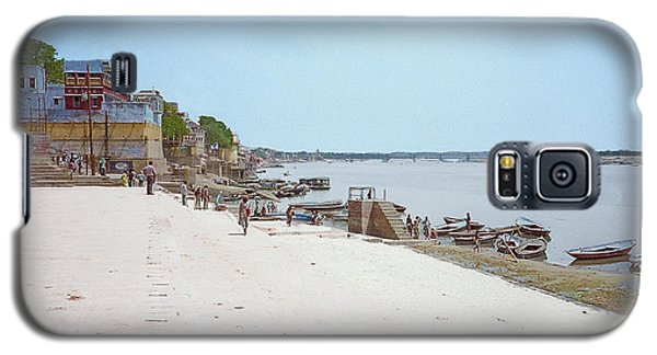 Woman Walking Along The Ganges River Galaxy S5 Case