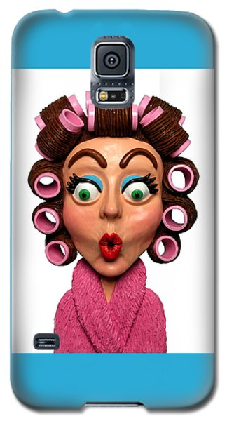 Woman Wearing Curlers Galaxy S5 Case
