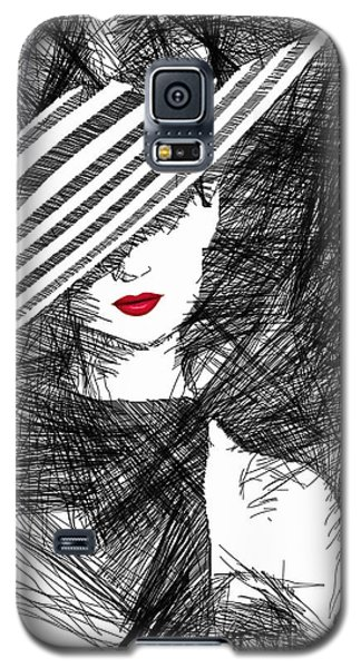 Woman With A Hat Galaxy S5 Case