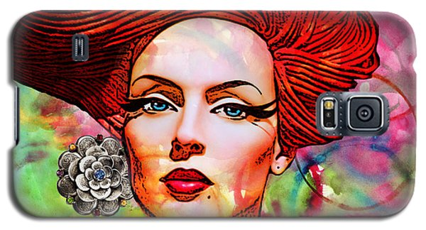 Woman With Earring Galaxy S5 Case