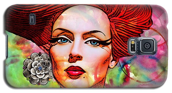 Woman With Earring Galaxy S5 Case by Chuck Staley