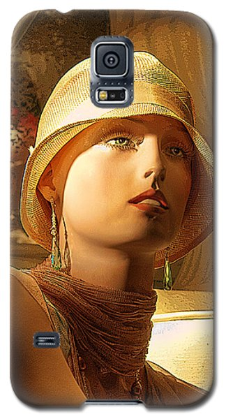 Woman With Hat Galaxy S5 Case