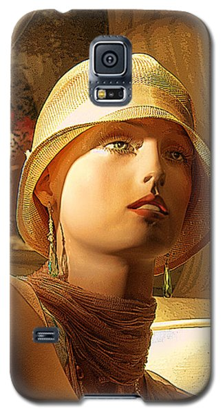 Woman With Hat - Chuck Staley Galaxy S5 Case by Chuck Staley