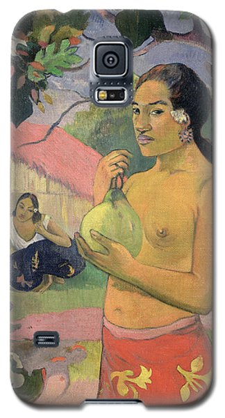 Woman With Mango Galaxy S5 Case by Paul Gauguin