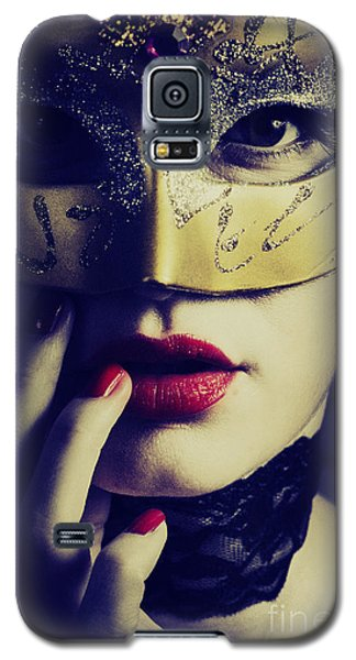 Woman With Mask Galaxy S5 Case