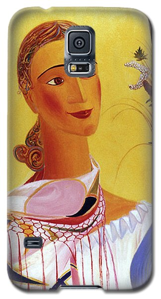 Woman With Shawl Galaxy S5 Case