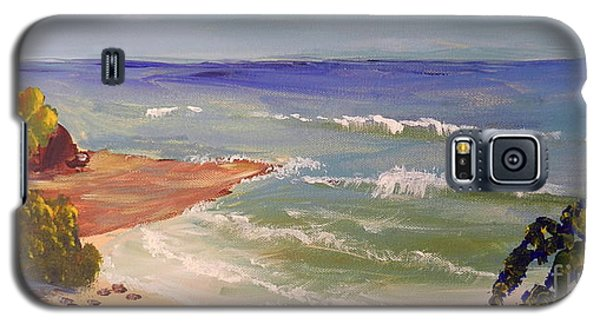 Galaxy S5 Case featuring the painting Wombarra Beach by Pamela  Meredith