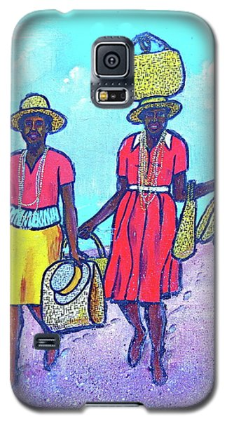 Women On Beach At Grenada Galaxy S5 Case