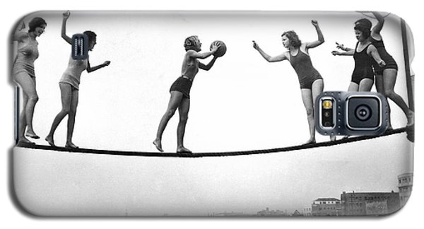 Women Play Beach Basketball Galaxy S5 Case by Underwood Archives