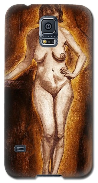 Galaxy S5 Case featuring the drawing Women With Curves Are Beautiful 2 by Michael Cross