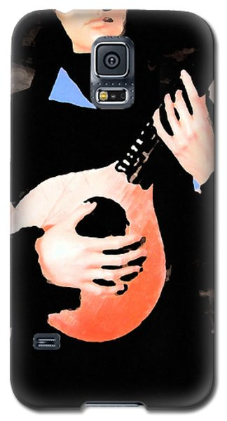 Women With Her Guitar Galaxy S5 Case