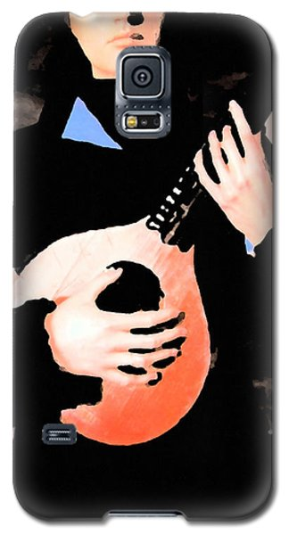 Galaxy S5 Case featuring the painting Women With Her Guitar by Colette V Hera  Guggenheim