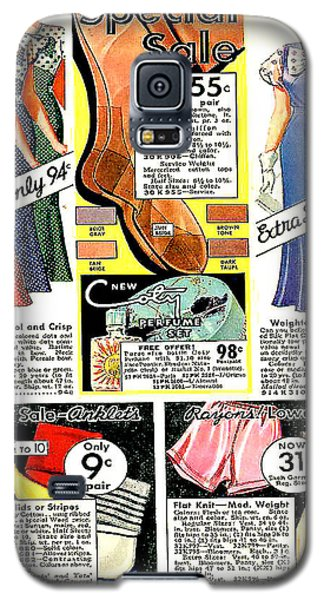 Galaxy S5 Case featuring the photograph Women's Dresses 94 Cents. 1934 Ward's Catalog Page by Merton Allen