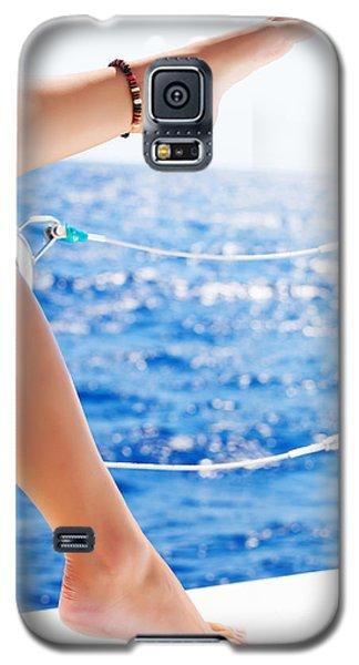 Women's Feet On The Yacht Galaxy S5 Case
