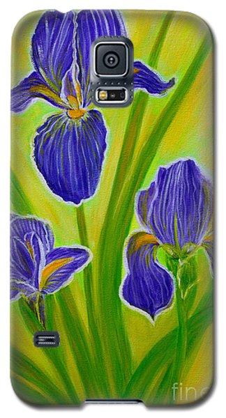 Wonderful Iris Flowers 3 Galaxy S5 Case