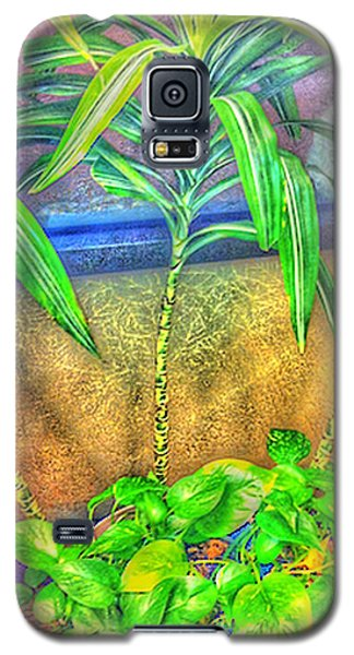 Galaxy S5 Case featuring the mixed media Wonderful To B Alive by Gayle Price Thomas