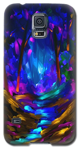 Galaxy S5 Case featuring the painting Wondering In The Dream by Steven Lebron Langston