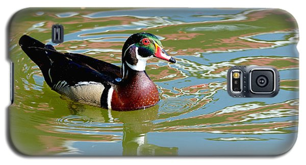 Galaxy S5 Case featuring the photograph Wood Duck by Kathy King