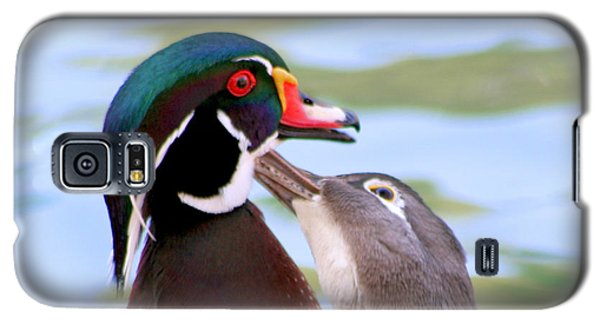 Galaxy S5 Case featuring the photograph Wood Duck Love by Bob and Jan Shriner