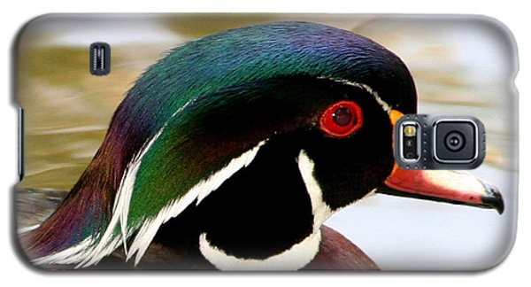 Galaxy S5 Case featuring the photograph Wood Duck Portrait by Bob and Jan Shriner