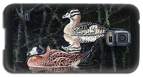 Galaxy S5 Case featuring the painting Wood Ducks Study by Donna Tucker