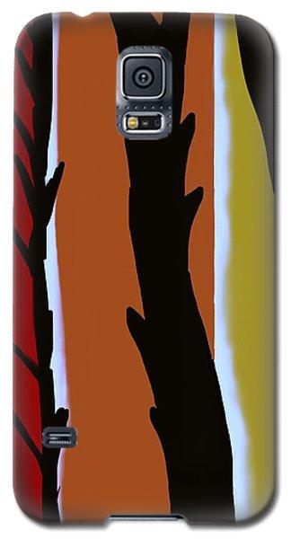 Galaxy S5 Case featuring the digital art Wood L by Christine Fournier