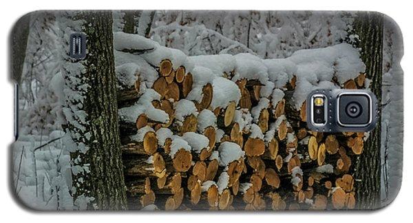 Wood Pile Galaxy S5 Case by Paul Freidlund