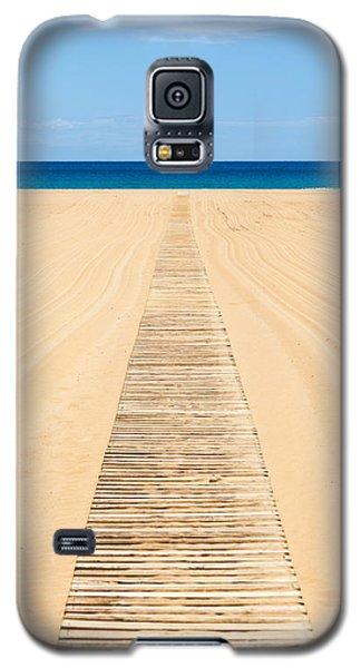 Wood Slat Wheelchair Beach Access Ramp Galaxy S5 Case