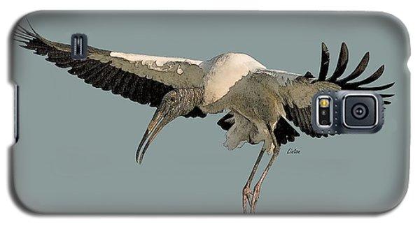 Wood Stork Flight Galaxy S5 Case