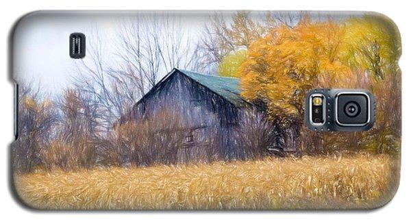 Wooden Autumn Barn Galaxy S5 Case
