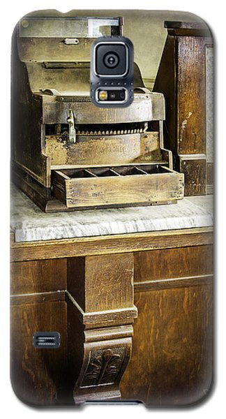 Galaxy S5 Case featuring the photograph Wooden Bank Cash Register by Betty Denise