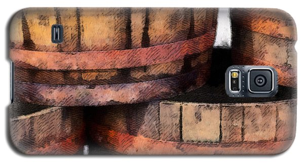 Galaxy S5 Case featuring the photograph Wooden Barrels by Brian Davis