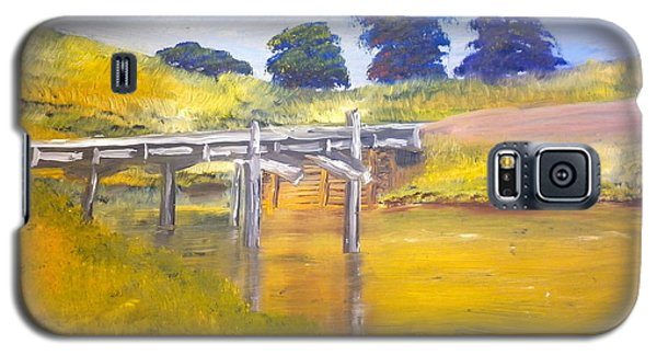 Galaxy S5 Case featuring the painting Wooden Bridge At Graften by Pamela  Meredith