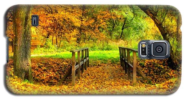 Wooden Bridge In The Autumn Forest  Galaxy S5 Case