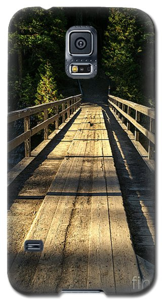 Galaxy S5 Case featuring the photograph Wooden Bridge by Sue Smith