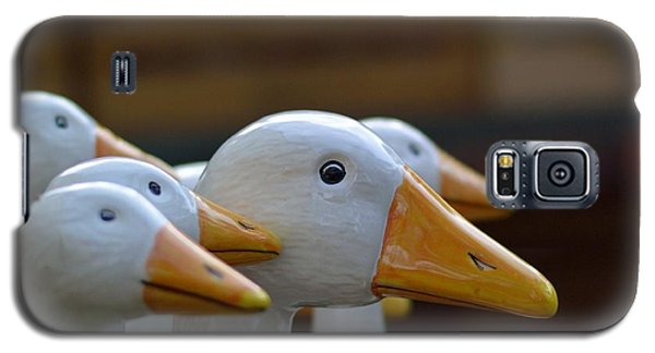 Decorative Galaxy S5 Case - Wooden Geese by Bunny My Yummy